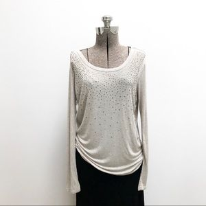 Michael Stars Tissue Tee with sparkle studs - o/s